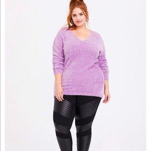 Torrid Eyelash Knit Pullover Sweater Lavender Size: 4